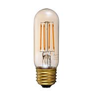3.5 E26 フィラメントタイプLED電球 T 4 COB 300 lm アンバー 明るさ調整 装飾用 AC 110-130 V 1個