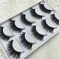 Eyelashes Full Strip Lashes Eyes Crisscross Lifted lashes Volumized Coverage Curly Handmade Fiber Black Band