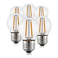 2W E26/E27 Izzószálas LED lámpák G45 2 led COB Dekoratív Meleg fehér 190lm 2700K AC 220-240V