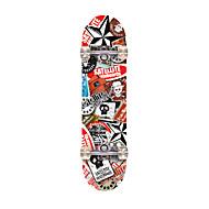 31 Inch Standardní Skateboards Profesyonel Javor ABEC-7-Red Brown
