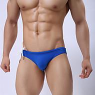 Muškarci Sportski Svijetlo zelena Lila-roza Navy Plava Gaće Gaćice Kupaći kostimi - Jednobojni M L XL Svijetlo zelena / Ljeto / 1 komad / Super seksi
