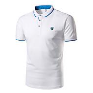 Pánské Jednobarevné Běžné/Denní Společenské Sportovní Jednoduché Polo Bavlna Košilový límec Krátký rukáv