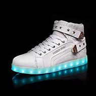 レディース-アウトドア-レザー-フラットヒール-靴を点灯-スニーカー-ホワイト ブラック レッド