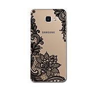 Para Ultra-Fina Estampada Capinha Capa Traseira Capinha Design de Renda Macia TPU para Samsung A7(2016) A5(2016)