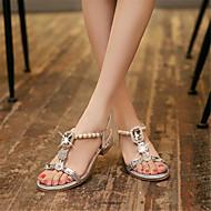Χαμηλού Κόστους Γόβες ροζ χρυσό-Γυναικεία Παπούτσια Γκλίτερ / Προσαρμοσμένα Υλικά Άνοιξη / Καλοκαίρι Πρωτότυπο / Παπούτσια club Σανδάλια Χαμηλό τακούνι Ανοικτή μύτη