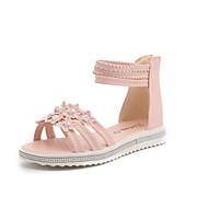 hesapli -Kadın Ayakkabı Yapay Deri Yaz Botinler Düz Ayakkabılar Yürüyüş Dolgu Topuk Yuvarlak Uçlu Günlük Elbise Parti ve Gece için Toka Çiçekli