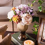 1 Gren Hortensiaer Peoner Planter Kunstige blomster