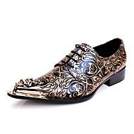 Muškarci Cipele Koža Proljeće Jesen Inovativne cipele Oksfordice Hodanje Metal na prstima za Kauzalni Zabava i večer Bijela