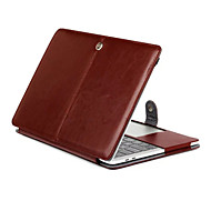 "Case for MacBook Pro 13""/15"" with Retina display Solid Color PU Leather Material Tablet Luxury Ultra Slim Magnetic Folio Stand Crazy Horse Pattern"
