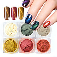 6 bottle Nail Art decorare stras Perle machiaj cosmetice Nail Art Design