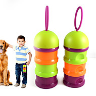 ネコ 犬 フィーダ ペット用 ボウル&摂食 携帯用 折り畳み式 ランダムカラー プラスチック