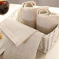 cheap Table Linens-Linen Square Napkin Solid Colored Table Decorations 1 pcs