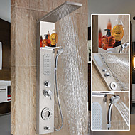 Moderne Dusjsystem Foss Wide spary Hånddusj Inkludert with  Keramisk Ventil Enkelt håndtak To Huller for  Rustfritt stål , Dusjkran