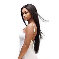 ieftine Tres Jolie®-Păr Brazilian Drept Păr Virgin Bătătură de par cu închidere Umane Țesăturile de par Negru Umane extensii de par