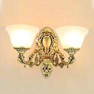billige Vegglamper-Rustikk / Hytte / Traditionel / Klassisk / Moderne / Nutidig Vegglamper Metall Vegglampe 220V / 110V 2*60W