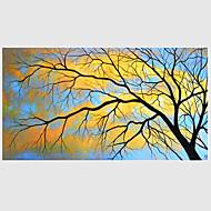 voordelige -Handgeschilderde Abstract Horizontaal, Modern Kangas Hang-geschilderd olieverfschilderij Huisdecoratie Eén paneel