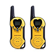 t5 2stk 22 kanal uhf walkie talkie med lcd skjerm
