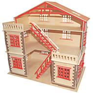 Χαμηλού Κόστους Παζλ 3D-Τουβλάκια Παζλ 3D Παζλ Ξύλινα παζλ Εκπαιδευτικό παιχνίδι Τετράγωνο Διάσημο κτίριο Κινεζική αρχιτεκτονική Φτιάξτο Μόνος Σου Χριστούγεννα