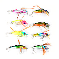 "cheap Fishing-8 pcs Flies Vibration/VIB Fishing Lures Vibration/VIB Flies g / 1/8 oz. Ounce/pc, 45 mm / 1-3/4"" Inches/pc Hard Plastic Feather Sea"