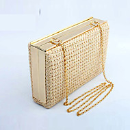 cheap Bags-Women's Bags Straw Evening Bag for Wedding Event/Party Casual Formal Office & Career Winter Spring Summer Fall All Seasons Gold Black