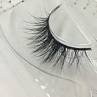 Eyelashes lash Others Eyes Thick Lifted lashes Volumized Handmade Animal wool eyelash Black Band 0.10mm 15mm