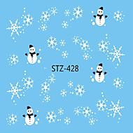 Χαμηλού Κόστους Χριστούγεννα Nail Art-1pcs Αυτοκόλλητο μεταφοράς νερού / Χριστουγεννιάτικα στολίδια / Αυτοκόλλητο καρφιών Τα αυτοκόλλητα των νυχιών / Χριστούγεννα Σχεδίαση Νυχιών