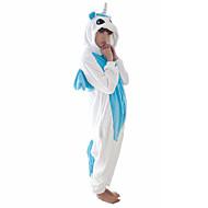 어른' 코스프레 코스츔 올인원 캐릭터 파자마 Unicorn 조랑말 점프수트 파자마 코럴 플리스(양털) 블루 / 핑크 코스프레 에 대한 남자와 여자 동물 잠옷 만화 페스티발 / 홀리데이 의상
