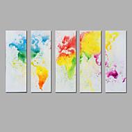 halpa -Maalattu Abstrakti Pystysuora,Moderni 5 paneeli Kanvas Hang-Painted öljymaalaus For Kodinsisustus