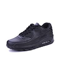 メンズ-カジュアル アスレチック-PUレザーライト付きソール カップルの靴-アスレチック・シューズ-ホワイト ブラック