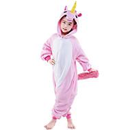 Kigurumi plišana pidžama Konj Unicorn Onesie pidžama Kostim Flanel Flis Pink Cosplay Za Zivotinja Odjeća Za Apavanje Crtani film Noć