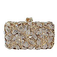 Žene Torbe Sva doba Metal Večernja torbica Umjetni biser Crystal / Rhinestone za Vjenčanje Zabave Formalan Zlato