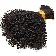 billige -Brasiliansk kinky krøllete bulk hår 100% uforbehandlet menneskehår bulk ikke vev fletning hår til salgs 1pcs / sett