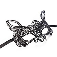 baratos Decoração-mulheres sexy de renda preta masquerade halloween máscara de Halloween acessórios prop cosplay