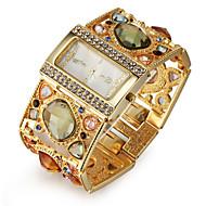 billige Quartz-Dame Armbåndsur Japansk Quartz Imiteret Diamant Legering Bånd Analog Luksus Glitrende Mode Guld - Guld Sort Et år Batteri Levetid / SSUO SR626SW