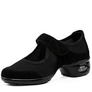 billige Dansesneakers-Kan ikke spesialtilpasses-Dame-Dansesko-Moderne-Syntetisk-Lav hæl-Svart Rød