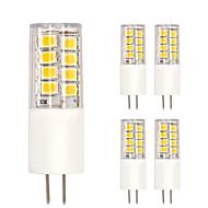 G4 LED-kornpærer T 51 leds SMD 2835 Varm hvit Kjølig hvit 350lm 2700-3000 6000-6500K AC 220-240V