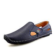tanie Obuwie męskie-Męskie Mokasyn PU Wiosna Mokasyny i buty wsuwane Zdatny do noszenia Biały / Czarny / Niebieski