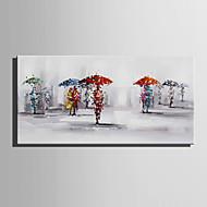 Maalattu Maisema Ihmiset Vaakasuora,Moderni European Style 1 paneeli Kanvas Hang-Painted öljymaalaus For Kodinsisustus
