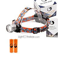 U'King Pandelamper Forlygte 2000 lm 3 Tilstand LED med batterier Zoombar Justerbart Fokus Komapkt Størrelse Nemt at bære Højstyrke