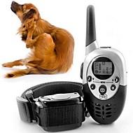 חתולים כלבים קולרים לאימון כלבים חוזרמתכווננת שלט רחוק /חשמליחשמלי אימון רעידה מוצק Black פלסטיק