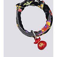 ネコ カラー ボウタイ キュートで愛らしい ゼブラプリント ファブリック ブラック パープル イエロー レッド ブルー