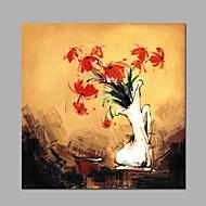 halpa -Maalattu Maisema Kukkakuvio/Kasvitiede Horisontaalinen Panoramic,Moderni Classic 1 paneeli Kanvas Hang-Painted öljymaalaus For