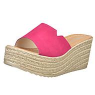 baratos Sapatos Femininos-Mulheres Sapatos Couro Ecológico Verão Creepers Sandálias Salto Plataforma Dedo Aberto para Casual Preto Fúcsia Verde