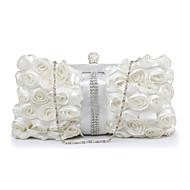 お買い得  イブニングバッグ-女性用 バッグ ポリエステル イブニングバッグ レース / フラワー のために 結婚式 / イベント/パーティー / フォーマル ホワイト / ブラック