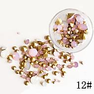 75 Neglekunst Dekoration Rhinsten Perler Makeup Kosmetik Neglekunst Design