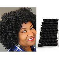 Bouncy Curl crochet hair twist black/burgundy saniya curl Synthetic braiding hair twist haar extension 20roots/pack 5packs make head