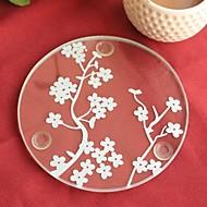 kirsebær blomstrer glascoaster (sæt 1) 9 * 9cm bedre gaver® bryllup favoriserer