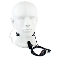 2 pin ptt throat microfone headset walkie talkie encoberta tubo acústico para motorola gp88 gp300 gp2000 hyt tc-500s