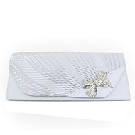 cheap Wedding Bags-Women's Bags Polyester / Satin Evening Bag Flower for Wedding / Event / Party / Casual Black / Beige / Almond