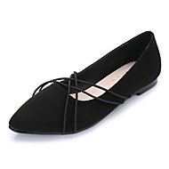 cheap Women's Flats-Women's Shoes Suede Spring Fall Comfort Flats Flat Heel Pointed Toe For Casual Dress Black Blue Burgundy